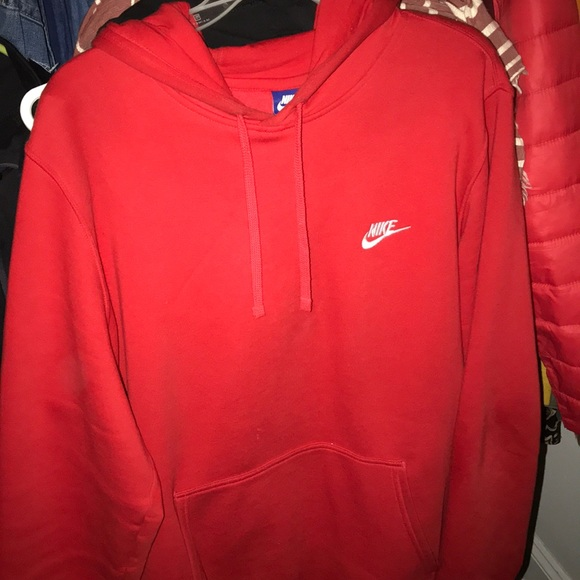 top design on wholesale reasonable price Red Nike Hoodie